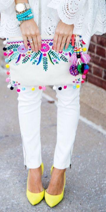 bolsos juveniles tejidos a crochet tipo sobre