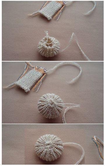 como hacer botones a crochet sencillos