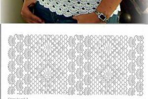 Los esquemas de blusas a crochet gratis para tus proyectos