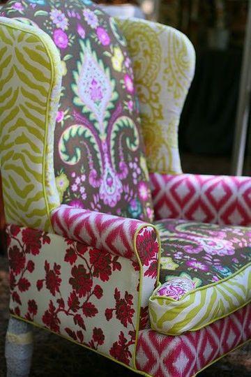 fundas para sillones orejeros patchwork