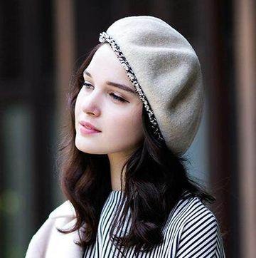gorros de lana para mujer joven
