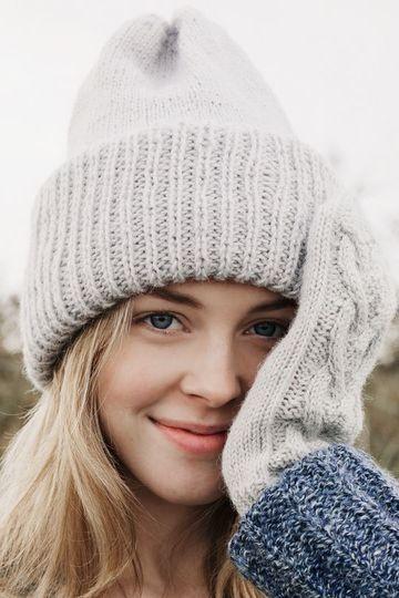 gorros de lana para mujer tejido