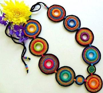 imagenes de collares tejidos a la moda