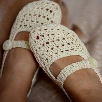 pantuflas tejidas para dama juvenil
