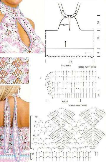 patrones de crochet para imprimir blusa descotada