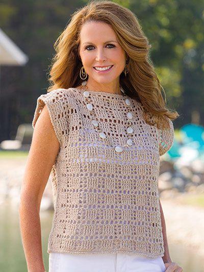 remeras al crochet de verano para señoras de 40