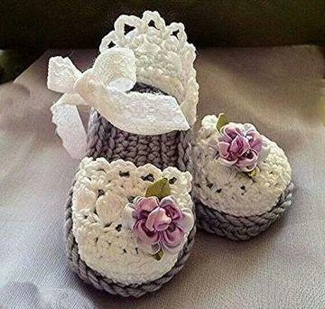 sandalias tejidas para bebe hermosas