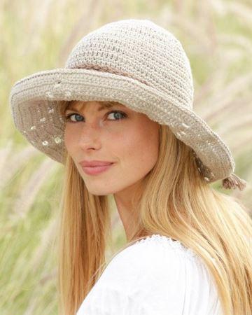 sombreros a crochet para mujer de ala
