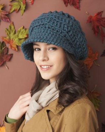 sombreros a crochet para mujer retro