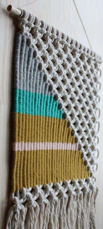 tipos de tejidos artesanales macrame