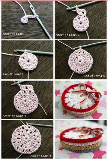 agarraderas a crochet paso a paso a dos colores