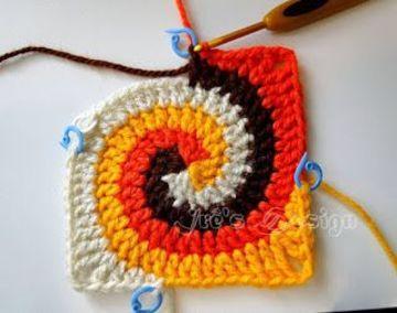 agarraderas a crochet paso a paso de varios colores