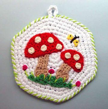 artesanias tejidas al crochet para la cocina