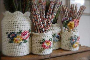artesanias tejidas al crochet para organizar
