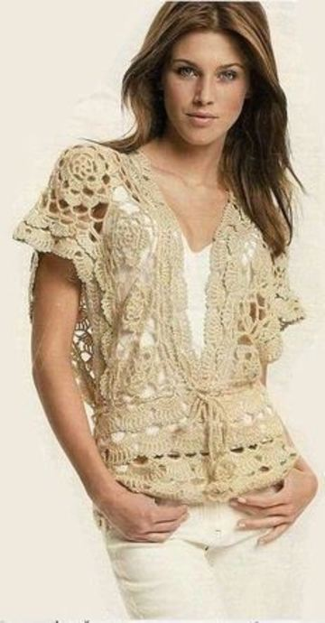 chalecos de verano a crochet elegantes