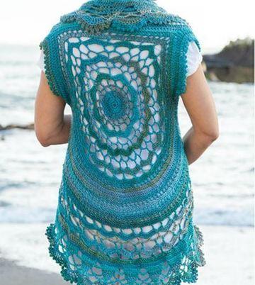 chalecos de verano a crochet playero