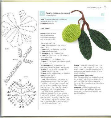 frutas a crochet paso a paso limón