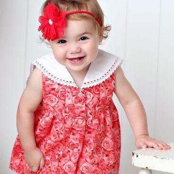 imagenes de vestidos para bebes facil de hacer