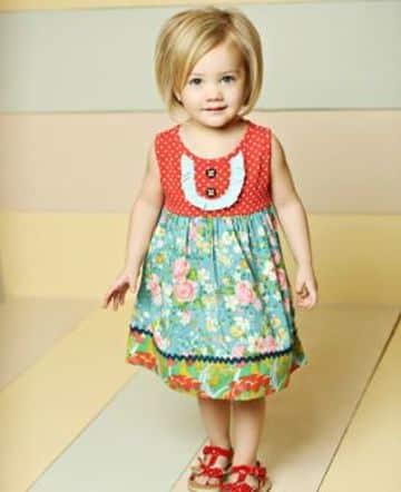 imagenes de vestidos para bebes sencillos