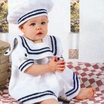 imagenes de vestidos para bebes tejidos