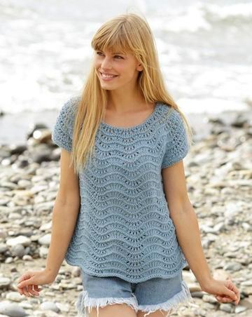 poleras tejidas a crochet manga corta