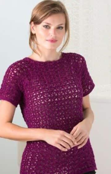 poleras tejidas a crochet para mujeres
