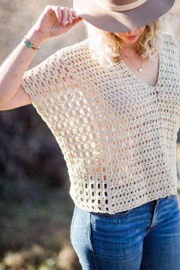ponchos de verano a crochet juvenil