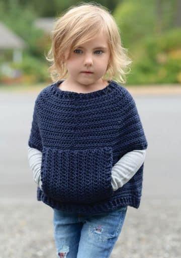 ponchos de verano a crochet para niñas