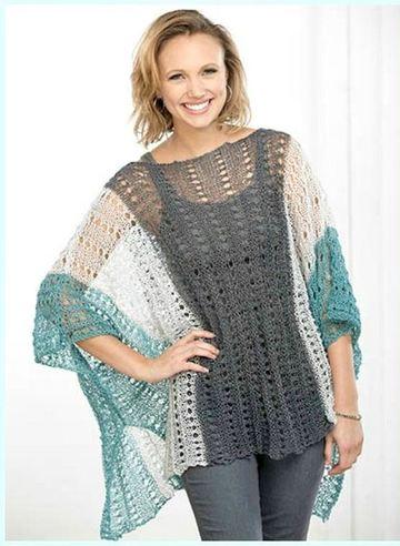 ponchos de verano a crochet para señoras
