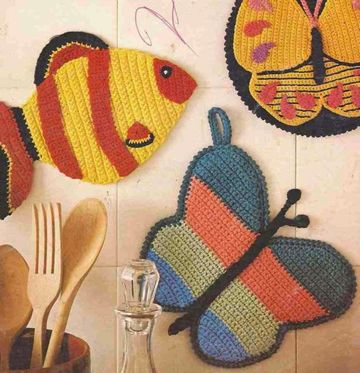 agarraderas tejidas para cocina en crochet
