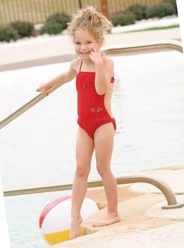 bikinis de ganchillo para niñas entero