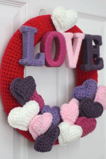 corazones a crochet rellenos para san valentin