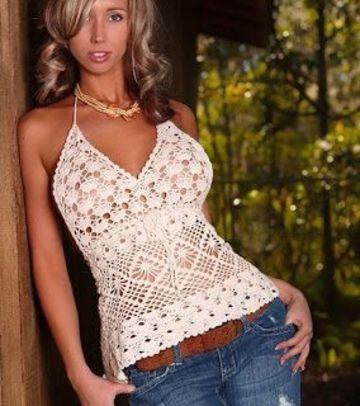 corpiños tejidos al crochet con patrones