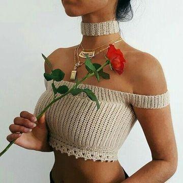 corpiños tejidos al crochet elegantes