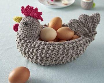 gallinas tejidas a crochet hueveras