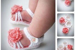 Los huaraches tejidos para bebe para su comodidad y ternura