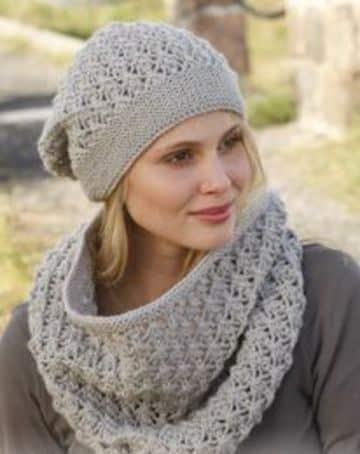 imagenes de gorros tejidos para mujeres con cuello