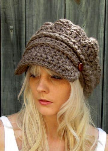 imagenes de gorros tejidos para mujeres de lana