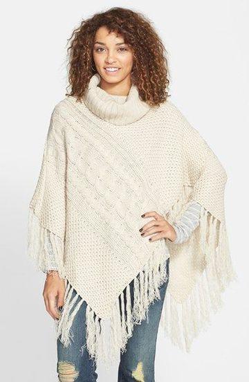 imagenes de ponchos tejidos en lana