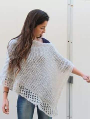 imagenes de ponchos tejidos modernos