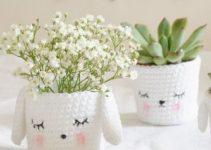 Funcionalidad y belleza con las macetas tejidas al crochet