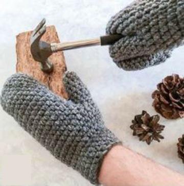 manoplas tejidas a crochet para hombres