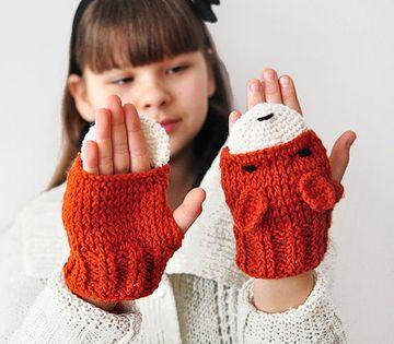 manoplas tejidas a crochet para niñas