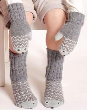 manoplas tejidas a crochet para niños