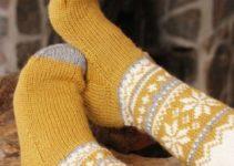 Las medias tejidas para dormir ideales en noches de invierno