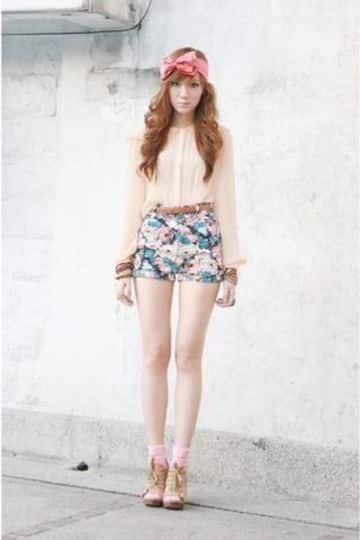 modelos de shorts para mujeres de flores
