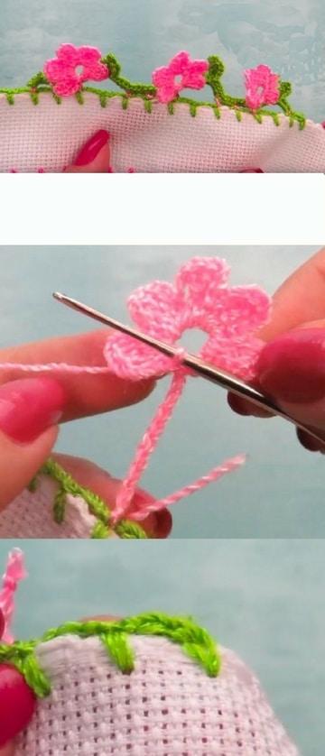 orillas a crochet paso a paso de flores