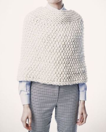 toquillas de punto para abuelas de lana