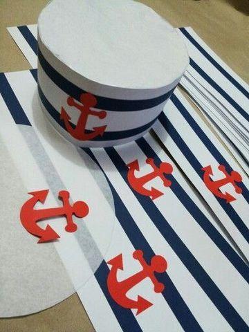 como hacer un gorro de marinero de papel moderno