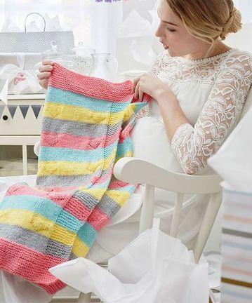 mantas tejidas para bebes de colores